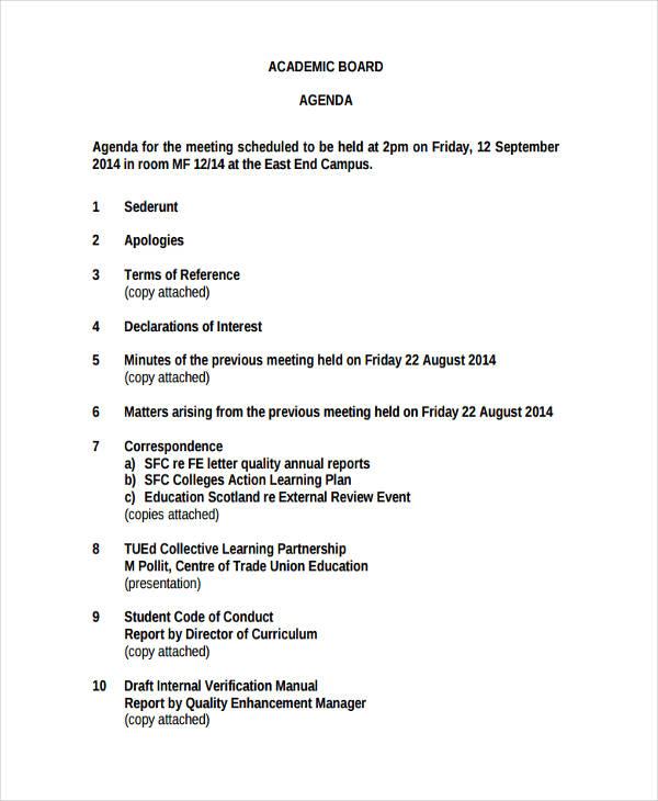 sample board meeting agenda - Nisatasj-plus