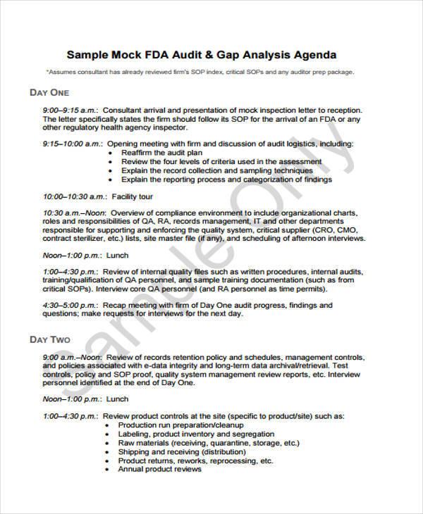simple agenda template