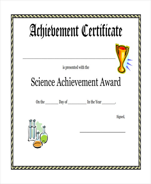 Examples of award certificates nfgaccountability – Achievement Award Wording