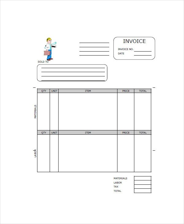 13+ Contractor Invoice Examples  Samples - blank invoice samples