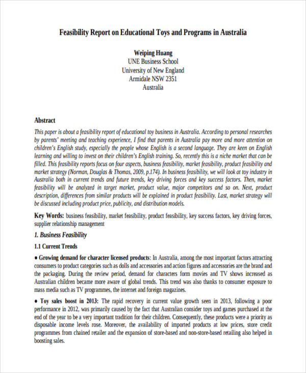 8+ Feasibility Report Examples - PDF