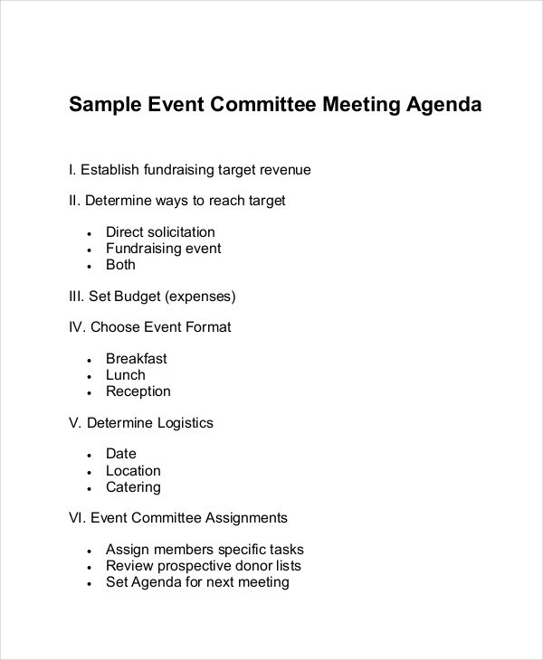 9+ Committee Agenda Examples, Samples Examples