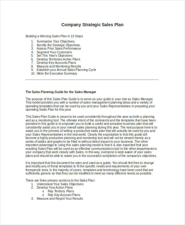 19+ Sales Plan Examples - how to write a sales plan template