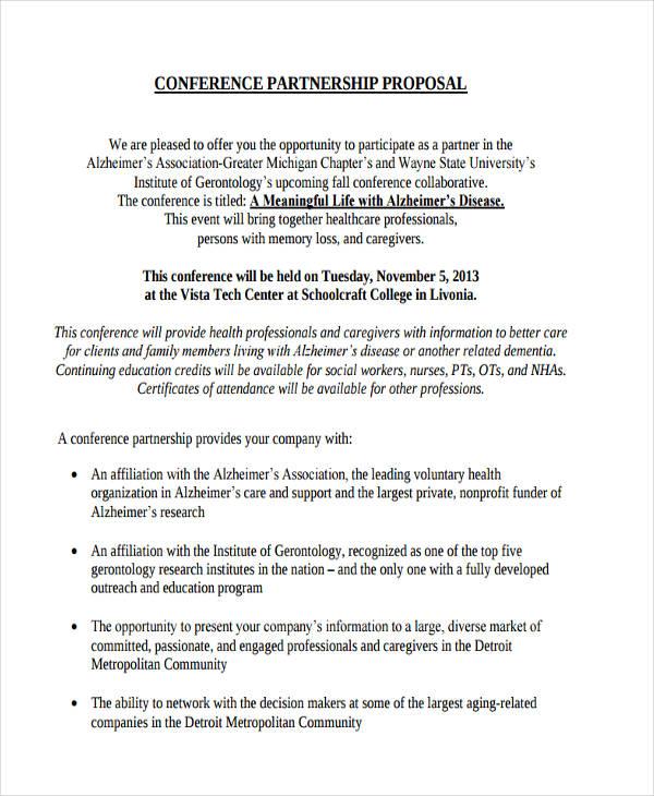 Partnership Proposal Template 4+ partnership proposal examples - non profit proposal template
