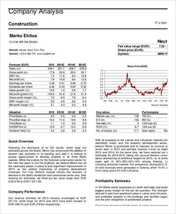 7+ Company Analysis Examples  Samples - company analysis
