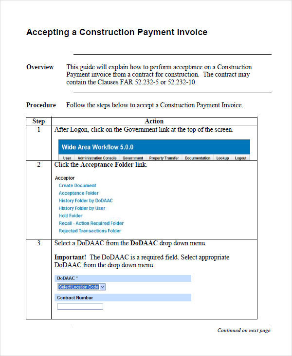 11+ Construction Invoice Examples  Samples - Word, PDF Examples