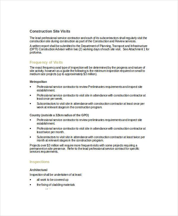 8+ Visit Report Examples  Samples - PDF, DOC - sample report in doc
