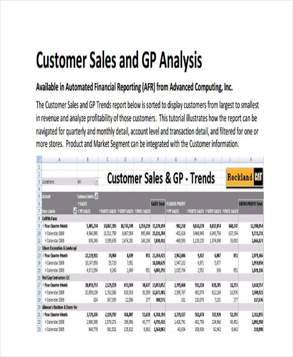 32+ Examples of Sales Reports - sales analysis