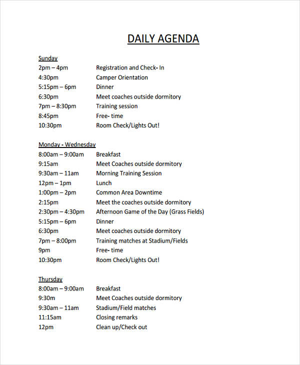 36+ Agenda Examples in PDF - Format For An Agenda