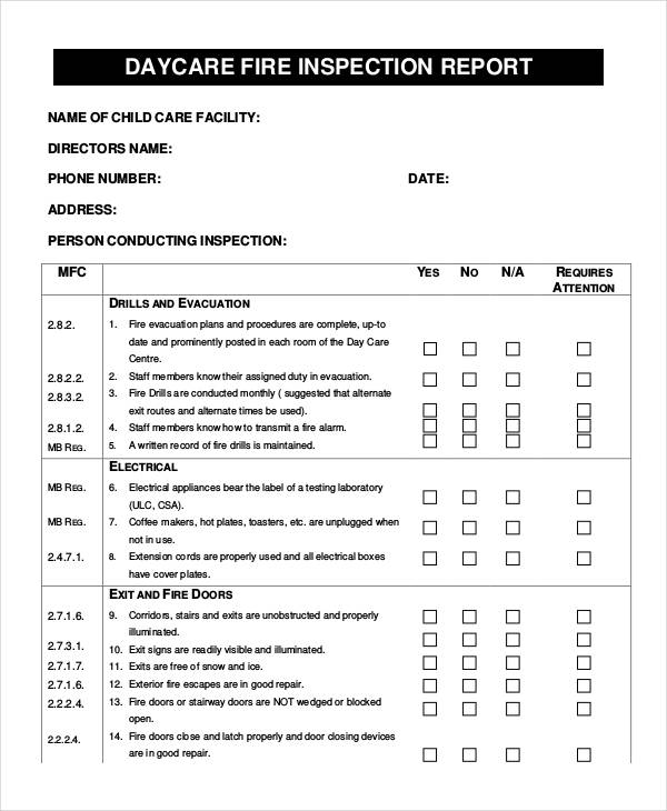 39+ Inspection Report Examples - inspection report templates