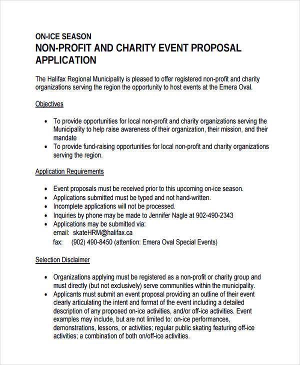 6+ Non-Profit Proposal Examples, Samples - Non Profit Proposal Template
