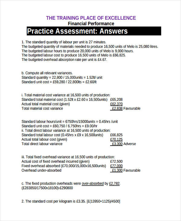 19+ Performance Assessments Examples  Samples