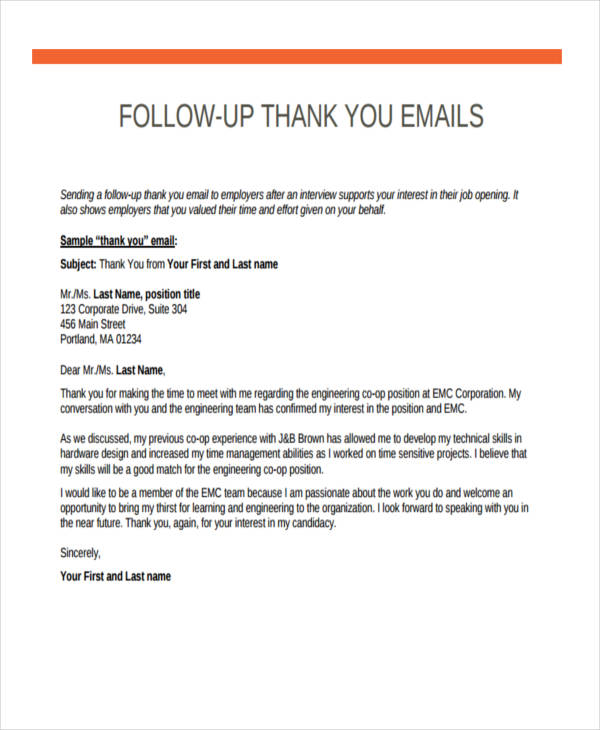 18+ Thank-You Email Examples  Samples
