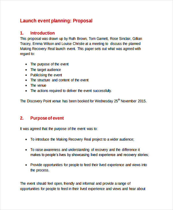 28+ Event Proposal Examples - PDF, DOC, PSD, AI - proposal event planning
