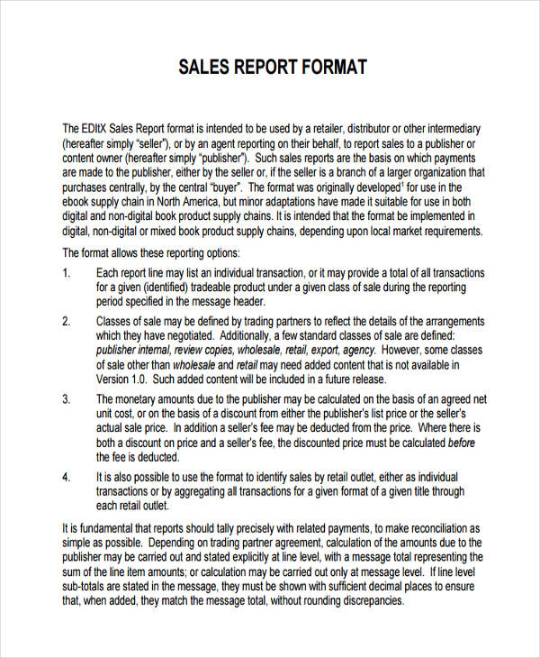 36+ Sales Report Examples  Samples - PDF, Word, Pages