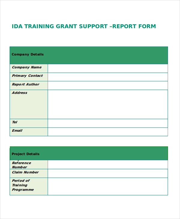 37+ Examples of Free Reports - training report