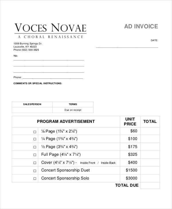 8+ Sales Invoice Examples  Samples