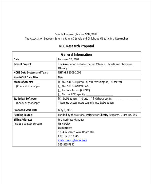 5+ Grant Proposal Examples  Samples - Grant Researcher Sample Resume