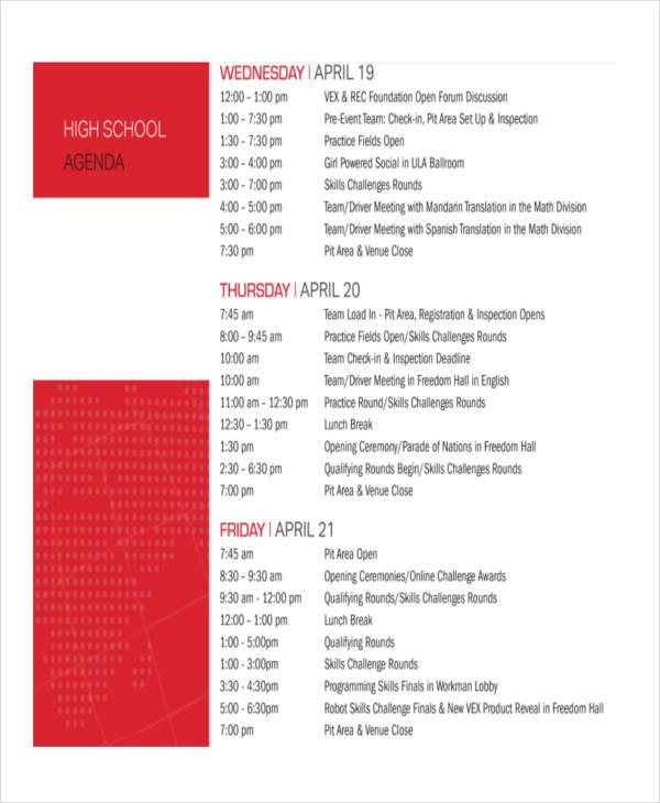36+ Agenda Examples in PDF - event agendas