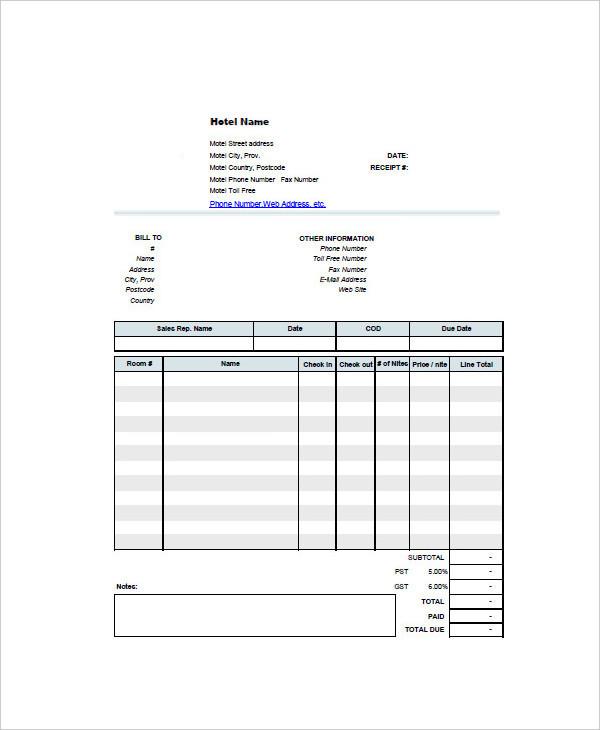 example invoice word