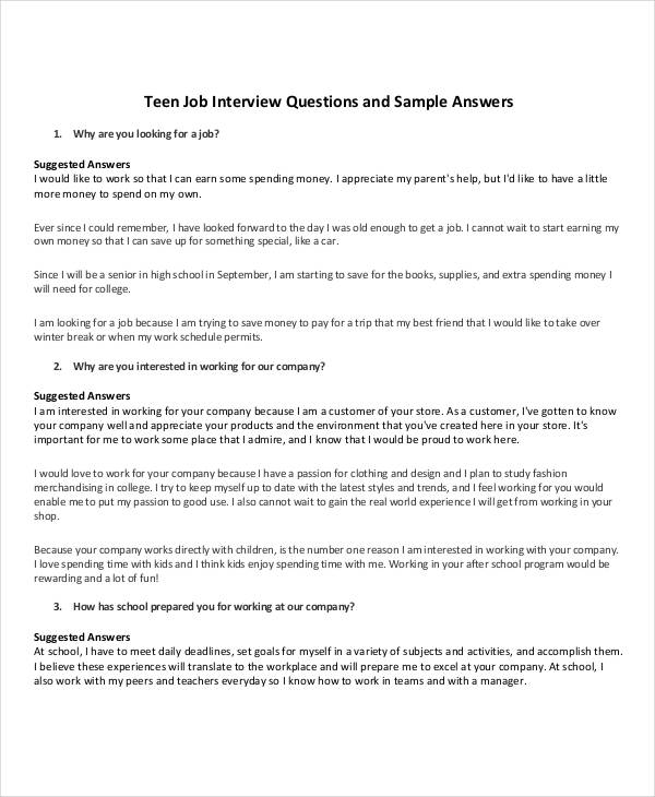 22+ Examples of Interview Questionnaires - Best Interview Answers