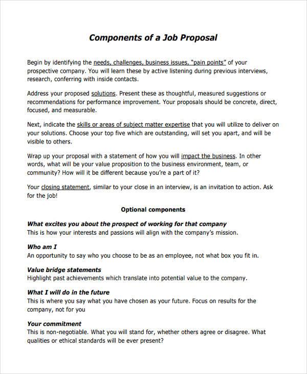 job proposal sample – Job Proposal Samples
