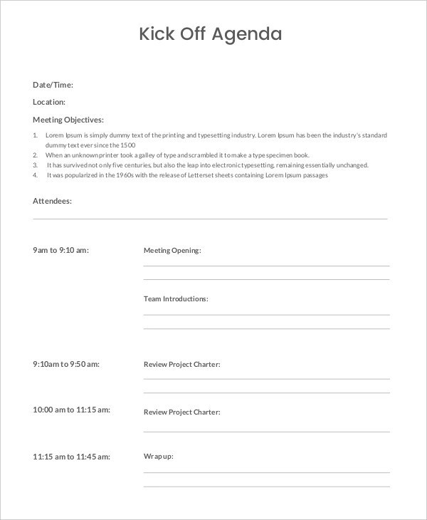 30+ Free Agenda Examples - free agenda samples