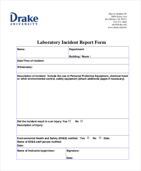 lab incident report form - Maggilocustdesign - Incident Reporting Form