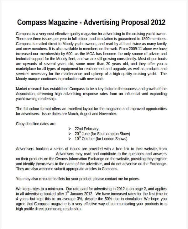 10+ Advertising Proposal Examples - PDF, DOC - advertising proposal template