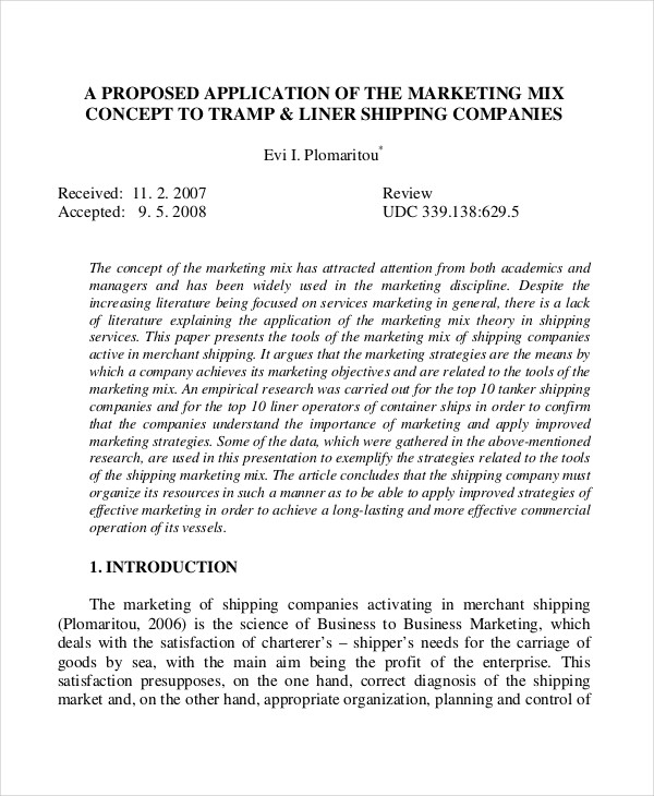 10+ Concept Proposal Examples  Samples - PDF - marketing proposal templates