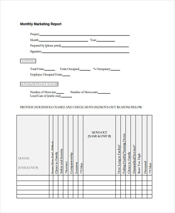 14+ Monthly Report Examples  Samples - PDF, Word, Pages