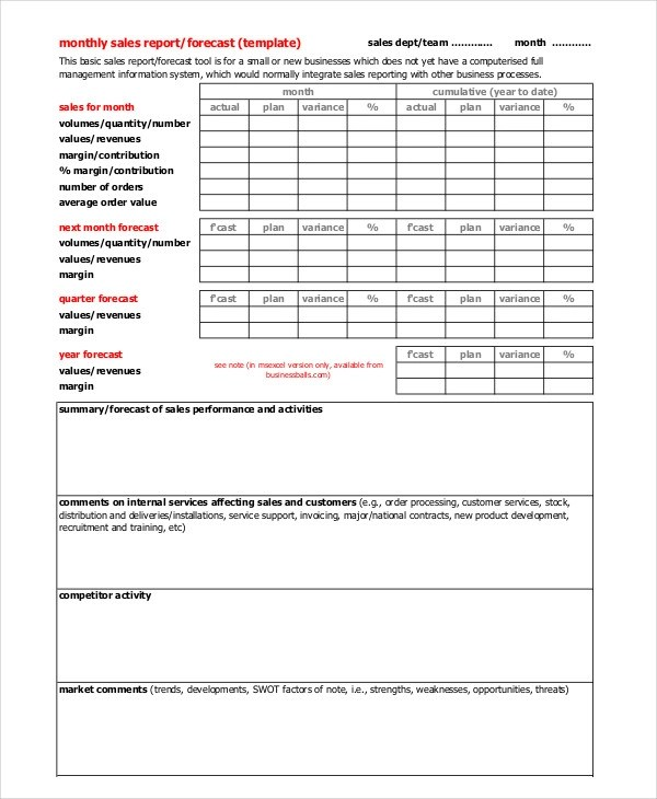 Sales Call Report Template Restaurant Daily Sales Report Format - sales call report template