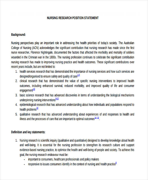 17+ Research Statement Examples - PDF, DOC Examples