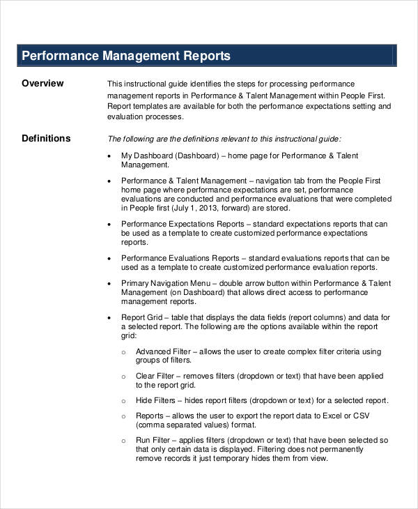 8+ Performance Report Examples - PDF, DOC - evaluation report