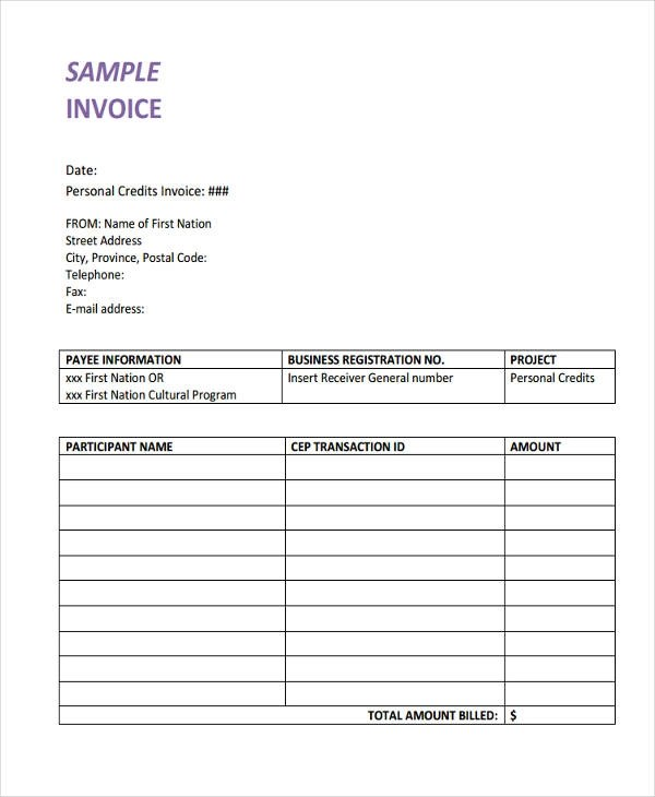21+ Printable Invoice Examples - example invoice