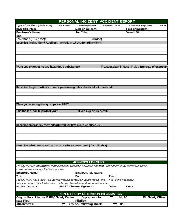 6 accident reporting procedure template reference format first aid incident report template cvresumeunicloud pronofoot35fo Image collections