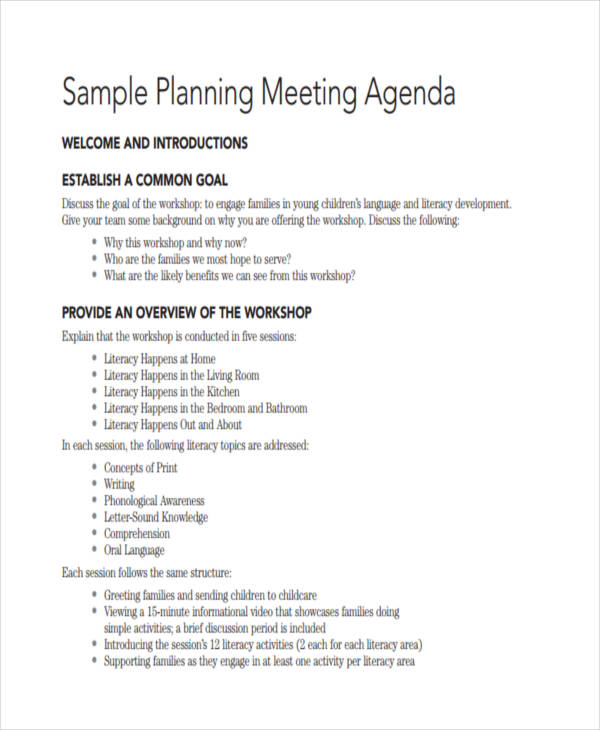 36+ Agenda Examples in PDF - meeting agenda outline