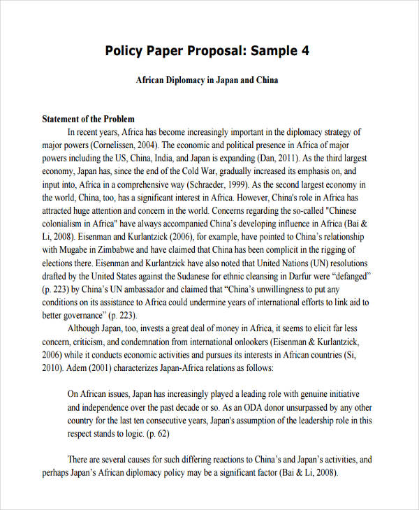 7+ Policy Proposals Examples \ Samples - policy proposal template