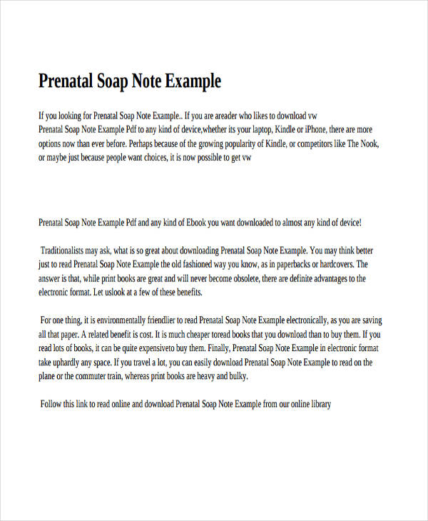 soap note examples