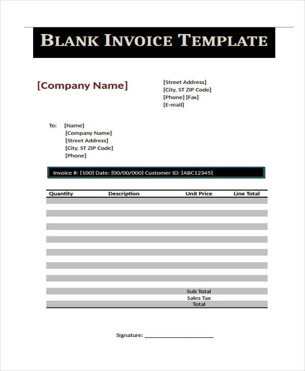 21+ Printable Invoice Examples  Samples - invoice printable