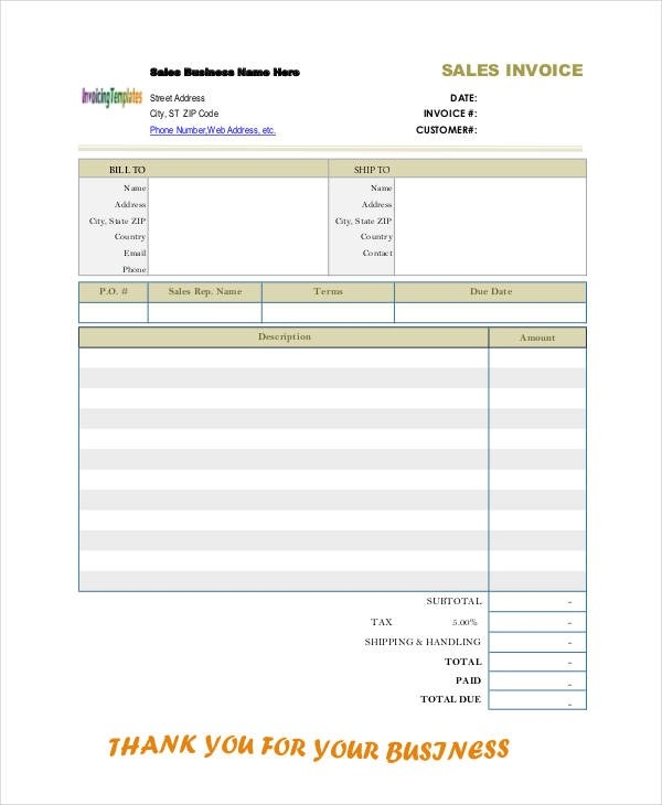 8+ Sales Invoice Examples \ Samples - sales invoices