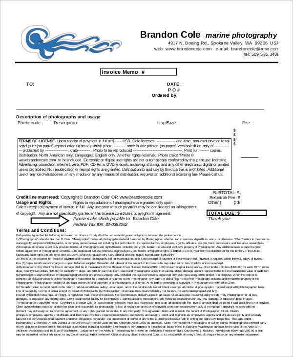 Photography Invoice Sample Rental Invoice Template - 5+ Free Word - photography invoice sample
