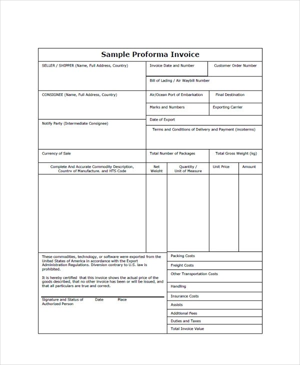 Free Invoice Template For Excel 6 Fill In Invoice Template