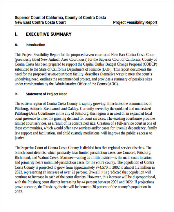8+ Feasibility Report Examples, Samples - executive summary format for project report