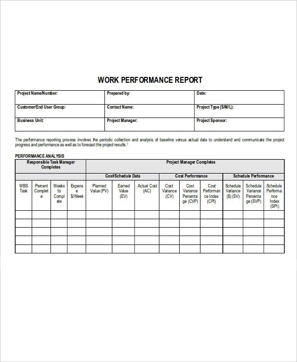 free project status report template or project report excel template