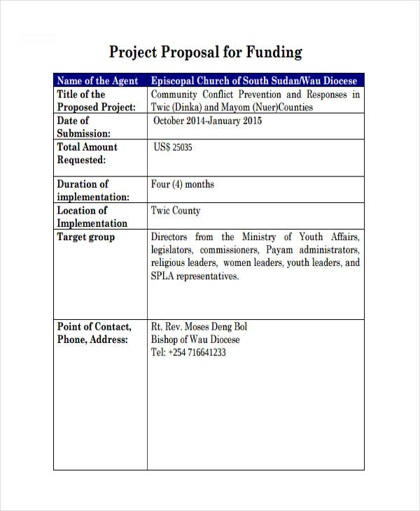 51+ Proposal Templates Examples  Samples - funding proposal template