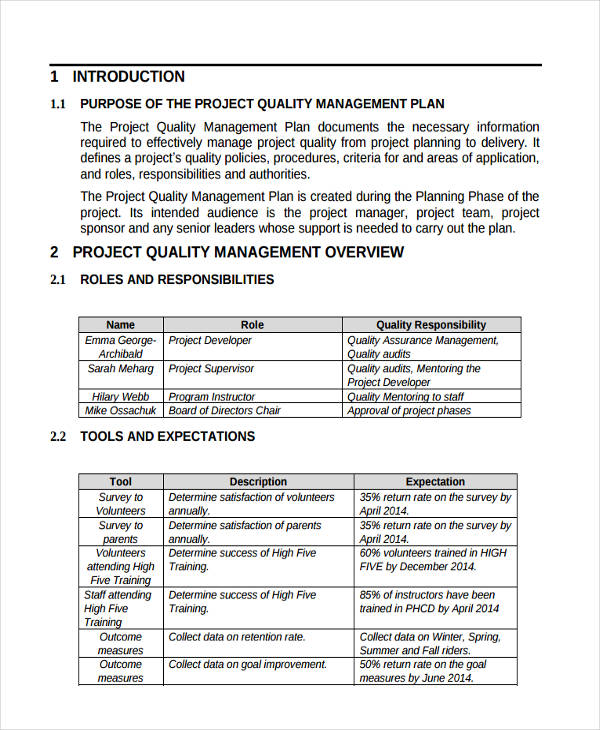 project management roles and responsibilities template | resume ...