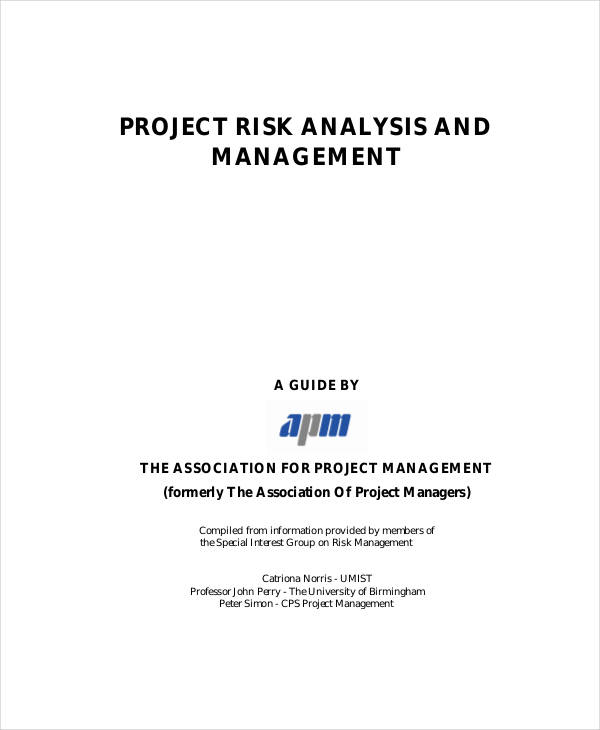 10+ Risk Analysis Examples  Samples - sample project analysis
