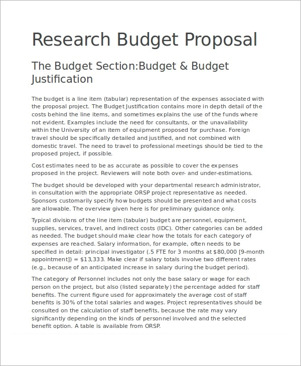 6+ Budget Proposal Examples, Samples - product proposal template