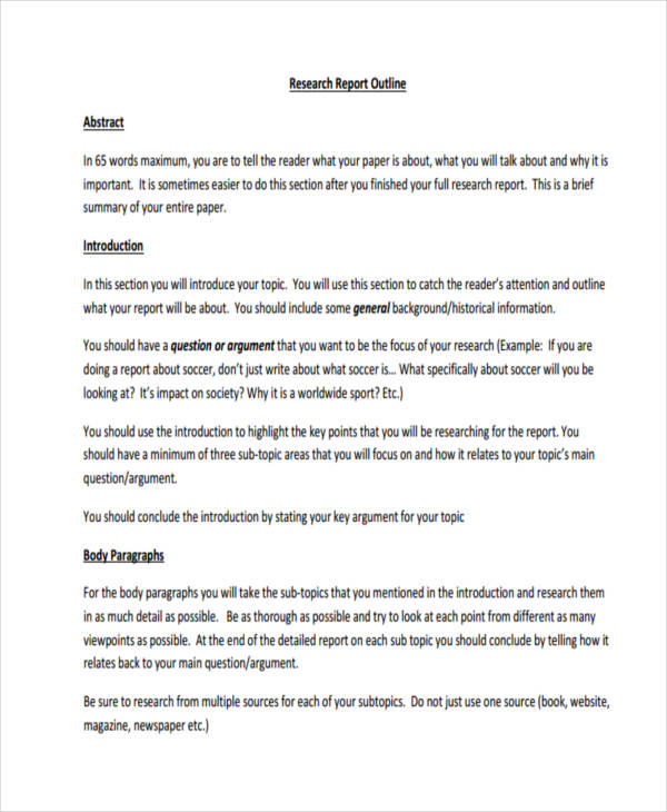 50 report examples pdfelementary research paper outline template